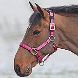 Shires Topaz 387 - Bozal para caballos de nailon, Raspberry, Pony