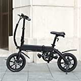 Bicicleta electrica Plegable Velocidad máxima 25 KM/H Bicicleta montaña Adulto Voltaje/Capacidad 36V / 10AH Ebike Endurance 40-45KM, Disco de Freno Grupo decuadro Horquilla de aleación/Acero