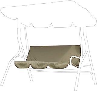 Estink Housse de protection en tissu imperméable pour balancelle de jardin 3 places Beige 150 x 150 x 10 cm