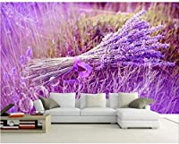 Bosakp カスタム3D写真壁紙ラベンダー人格壁壁画壁紙絵画ホーム壁の装飾任意のサイズ 400X280Cm