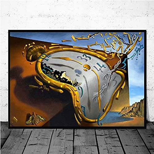 Salvador Dali Surrealismo Arte astratta Orologio intrecciato Satira Realtà Tela Pittura Wall Art Poster Stampe Camera da letto Soggiorno Studio Ufficio Decorazioni per la casa Murale