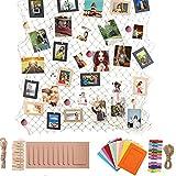 Marco de Fotos de Papel de Bricolaje, Red de Pesca Decoración de La Pared Del Hogar Fotos, Álbum Colgante,con 20pcs Marco de Foto