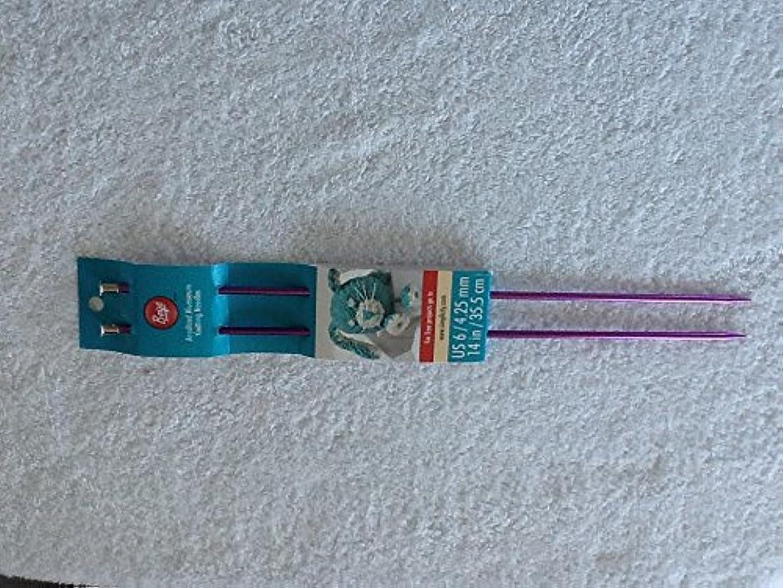 Boye Anodized Aluminum Knitting Needles Purple 14 inch size 6 4.24 mm