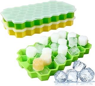 para bebidas 3 piezas vino con tapa whisky bandeja para cubitos de hielo Jooheli 18 compartimentos Cubitera de silicona