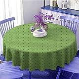 Mantel redondo verde vintage retro pop art estilo 50s 60s inspirado populares lunares ilustraciones como regalo diámetro 67 pulgadas helecho verde y negro