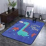 YQC Kinder Cartoon Dinosaurier Teppich Komfortable Rutschfeste Wohnzimmer Schlafzimmer Baby Krabbeldecke,150 * 200cm