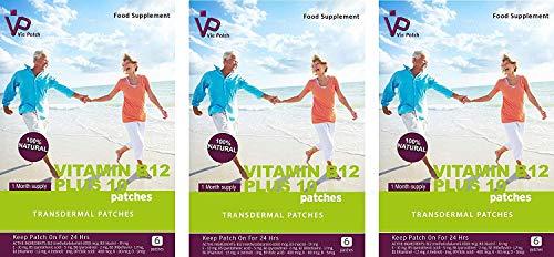 VIE Vitamin B12 Plus 10 Patches, 18 Patches