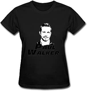 Duanfu Paul Walker Sticker See You Again Women's Cotton Short Sleeve T-Shirt