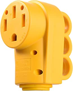 MICTUNING 125 250V 50Amp Heavy Duty RV Female Replacement Receptacle Plug with Ergonomic Grip Handle Yellow