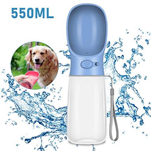 Molbory Hunde Wasserflasche 550ml, Tragbare Wasserflasche Hunde, Hund Katze Trinkflasche, Hundetrinkflasche für unterwegs, Outdoor, Reise und Wandern - BPA Frei