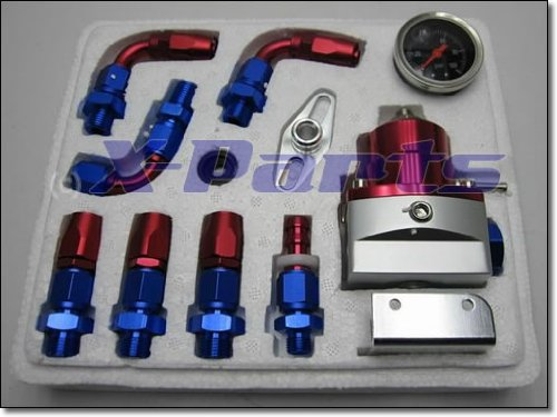 Essence Régulateur de pression avec manomètre 7 mgte acier Flex câble