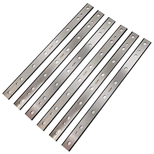 Planer Blades Knives Set JESTUOUS 13 Inch HSS Double Edge Replacement for DeWalt DW735 7352 735X Thickness Planers Woodworking Cutting Parts Tool,6 pcs