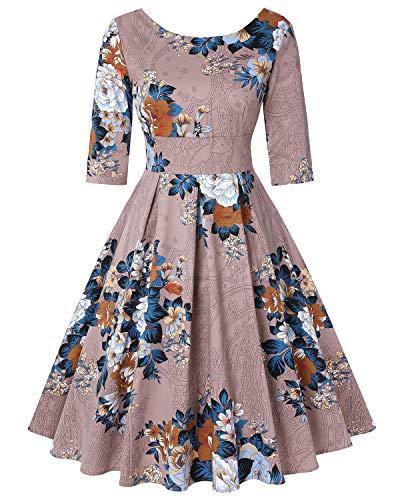 Mintilimit Vestido de fiesta para mujer, estilo retro vintage de los años 50