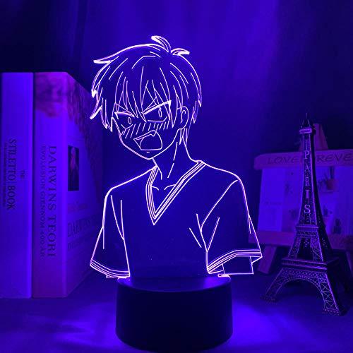 HYKK Veilleuse à LED illusion d optique Lampe Manga 3D Lampe Fruits Basket Kyo Sohma Figure pour Décoration de chambre d enfant Bithday Cadeau Fruits Basket Anime LED Light Bedroom