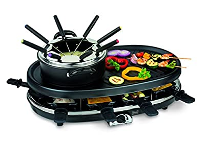 1800 Watt 4 in 1 Multi Funktions Gerät Grill Fondue Raclette Gourmet Trebs 99322