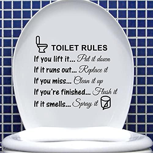 Pegatinas de PVC para baño con reglas de baño, removibles, para decoración del hogar, 27 x 24 cm