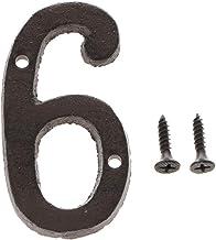 3 Inch 3D Drijvende Huis Plaque, Cast Smeedijzeren Zwart Antiek Deurnummer Teken 0-9 cijfers Sticker Plaat, Schroef gemont...