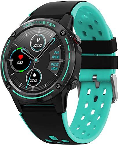 ZHICHUAN Smartwatch Smart Watch, Seguimiento de la Aptitud, Rastreador Activo, Podómetro, Monitor de Sueño, Calorías, Pantalla de Color Hd de 1.3 Pulgadas, 5Atm Impermeable, Cronóme