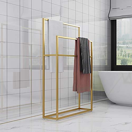 Handtuchständer Abnehmbares Metall, Handtuchhalter Bad stehend, Baden Handtuchhalter mit Handtuchhaltern, Badzubehör und Kleidung Butler,5