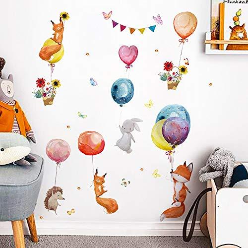 BLOUR Dibujos Animados niños habitación decoración de la Pared Pegatinas de Pared Globo aerostático Vinilo calcomanías de Pared para decoración del hogar Arte murales Pegatina Papel Tapiz