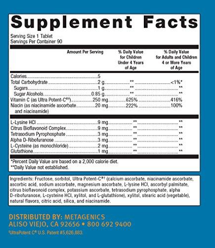 Metagenics Ultra Potent-C® Chewable – Vitamin C – Chewable Orange-Flavor Vitamin C for Immune Support* | 90 count