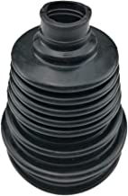 I33T Universal Flexible Silicone Constant Velocity CV Joint Boot Rubber 5 inch(125mm) Height Black