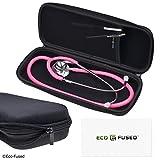 Eco-Fused Stethoskop-Box - Passend für: 3M Littmann, MDF, ADC, Omron, etc. - Große Netztasche für Zubehör - Starkes Nylon-Material - Schützt Ihr Stethoskop - Verhindert Biegen und...