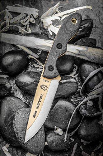 Tops Knives Mini Scandi Survival neck Knife Tan Blade MSK-SURV