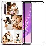 Coque de téléphone compatible avec Samsung Galaxy A9 2018 (transparent Layuot 5 images)