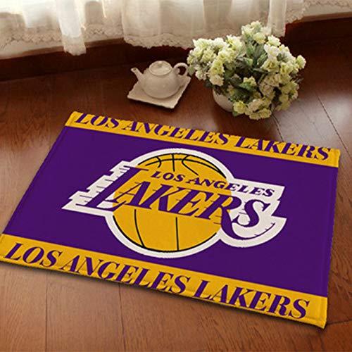 WYBY Corte de Baloncesto Carpeta- Lakers Team Impreso Alfombra-Antideslizante Resistente al Desgaste: Elegante y Simple Restaurante de Oficina. 40 * 60cm