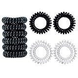 12 Stück Telefonkabel haargummi elastisch Haarband, Spirale Telefonkabel Anti Spliss Zopfgummi...