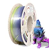 Reprapper Filamento Silk PLA 1.75 1kg para Impresión 3D, Seda PLA con Brillo Nacarado 1.75mm (± 0.03) para Impresora 3D, Multicolor Rainbow