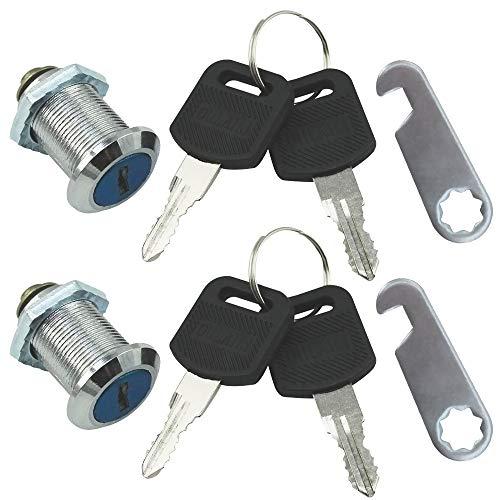 com-four® 2 serrures de boîte aux Lettres, Serrure de Meuble avec clé, 30 mm (02 pièces - 30 mm)