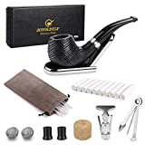 Best Tobacco Pipes - Joyoldelf Oak Tobacco Pipe, Smoking Pipe with Foldable Review