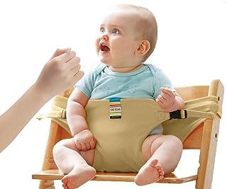 Lychee Trona Portatil de Viaje para Bebe Tronas para Sillas Ideal para comer fuera/Viajes/Inicio/Restaurantes/Compras (Khaki)