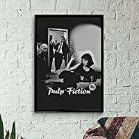 DMFNGJSD 数字油絵 フレームレス 、数字キット塗り絵 手塗り DIY絵-Classic Pulp Fiction ,デジタル油絵 40x50 cm