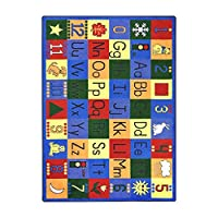Joy Carpets Kid Essentials Early Childhood Around The Block Rug, Multicolored, 5'4 x 7'8 by Joy Carpets