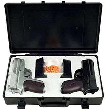 NEW CYMA TWIN SPRING AIRSOFT DUAL PISTOL COMBO PACK SET Hand Gun w/ Case 6mm BB