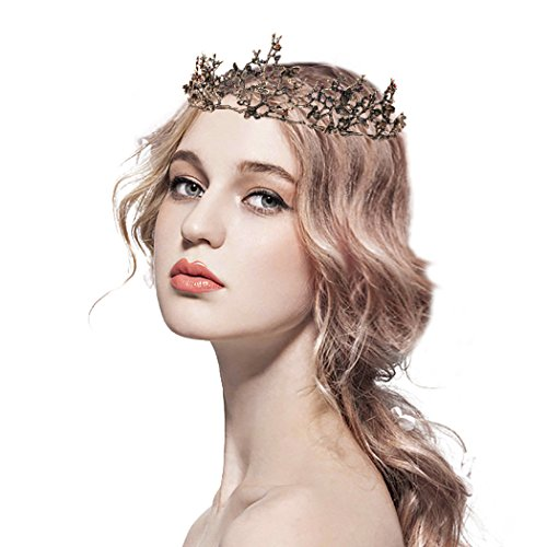 Catery Gold Baroque Tiaras and Crowns Crystal Wedding Bride Queen Crowns for Women Decorative Princess Tiaras Hair Accessories for Prom