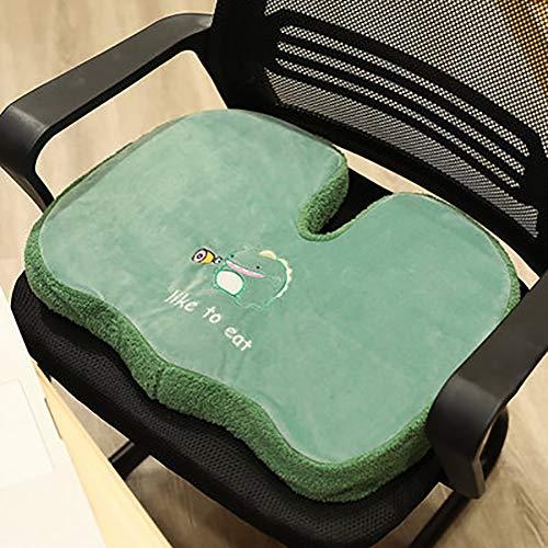 SGGMRR Schattig cartoonkussen orthopedisch ergonomisch rugkussen gemaakt van traagschuim om auto, kantoor, rolstoel, reizen, school koel en geventileerd te verminderen