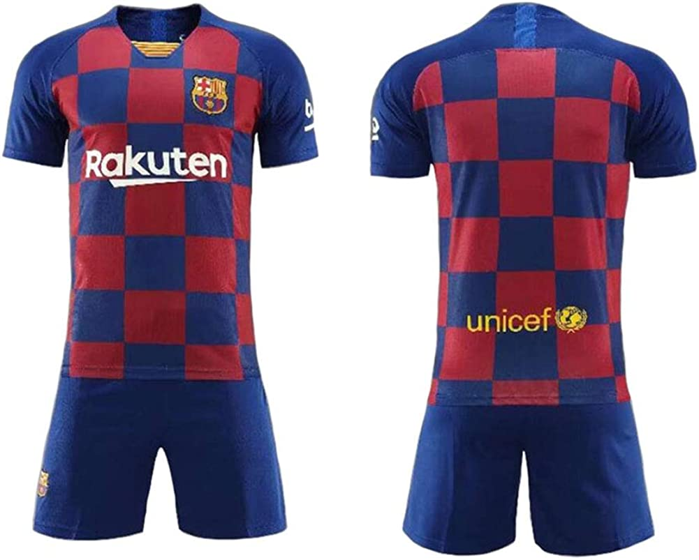 LCHENX-Jungen # 17 Antoine Griezmann Fans Fu/ßball Trikot T-Shirt und Hose Atmungsaktives Trainings-T-Shirt-Set f/ür Kinder in Barcelona