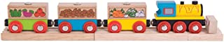 Bigjigs Rail Fruit and Veg Train - Other Major Wooden Rail Brands are Compatible