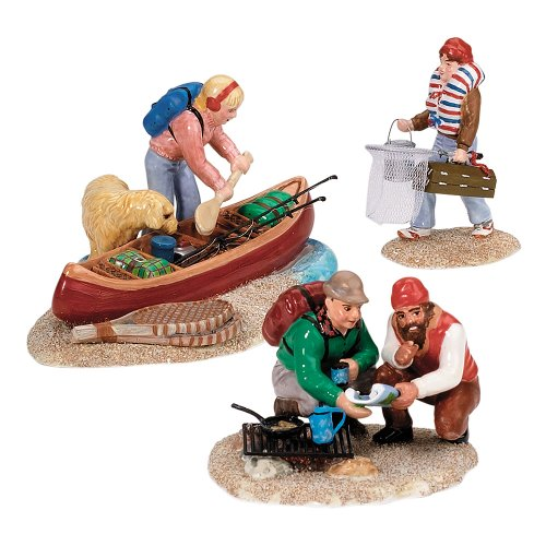 Department 56 The Original Snow Village Series Family Canoe...