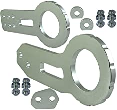 ICBEAMER Racing Style Anodized CNC Aluminum Tow Hook Kit Come with Front and Rear Tow Hook Screw [Color: Silver]