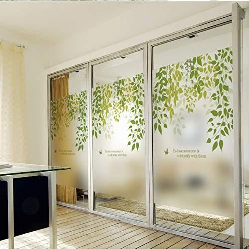 Djkaa Statische raamfolie, vorst, ondoorzichtig, ondoorzichtig, glas, zelfklevend, decoratie thuis, digitale print, lentebreeze 45*60cm(14.72*23.62 Inch)