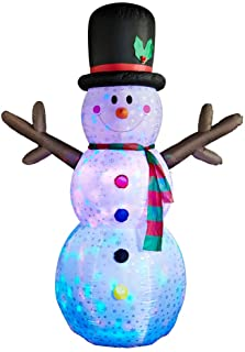 Best SUPERJARE 8 FT Christmas Inflatable Snowman, Flashing Lights Christmas Decoration, Snowman with Fan and Anchor Ropes, Animated for Yard Party Lawn, Indoor & Outdoor Review