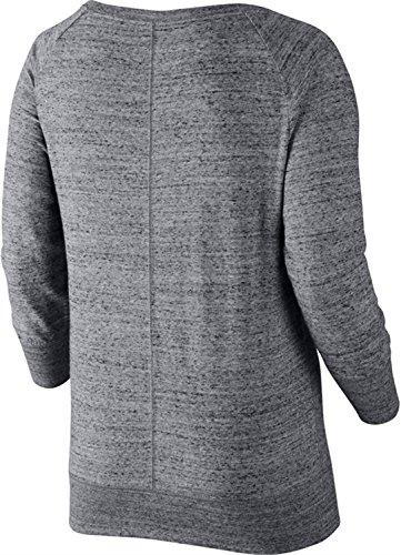 Nike Damen Sweatshirt Gym Vintage Crew, carbon heather/sail, XS, 678383-091
