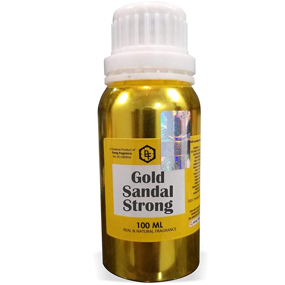 下線導入するテラスParagフレグランスゴールドサンダル強いアター100ミリリットル(男性用アルコールフリーアター)香油| 香り| ITRA