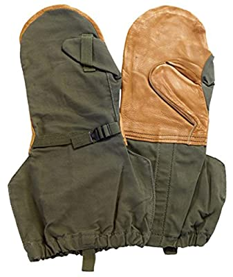 Military Outdoor Clothing Never Issued Olive Drab Mitten Shells with Liner, Olive Drab, Large