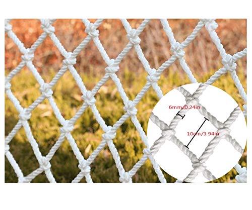 Sicherheitsnetz für Kinder, Kids Children Safe Schutznetz  Außenbausicherheitsnetz Gartenzaun-Filetarbeit Pflanze Balkon  Geländer Treppe Auffahrt Spielplatz Weiß Weben des Netzseils Multi-Size